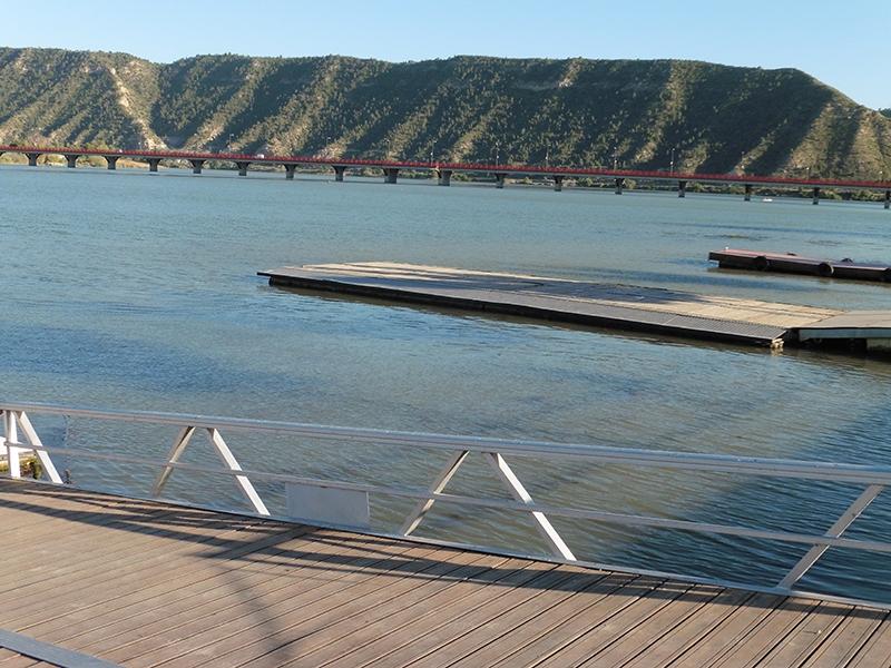 """9ª etapa Mequinenza - Miravet """" Pte. río Segre"""""""