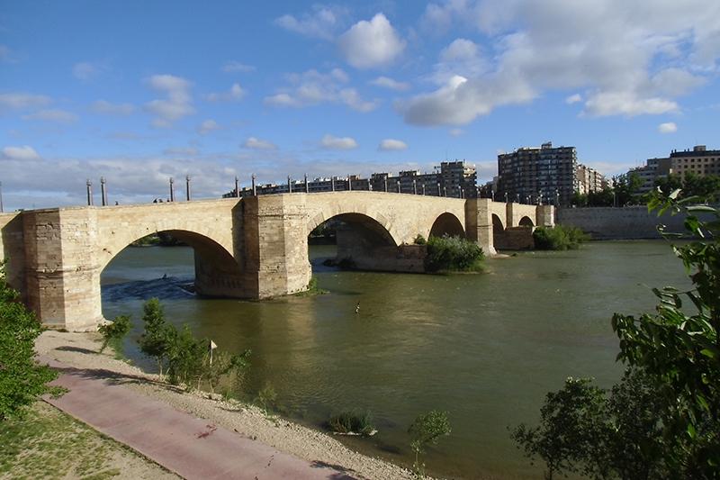 "7ª etapa  Zaragoza - Sástago ""Salida pte. de Piedra."""