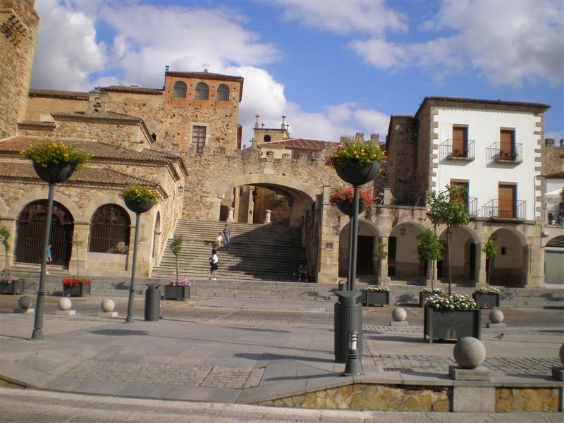 Cáceres-plza.Mayor