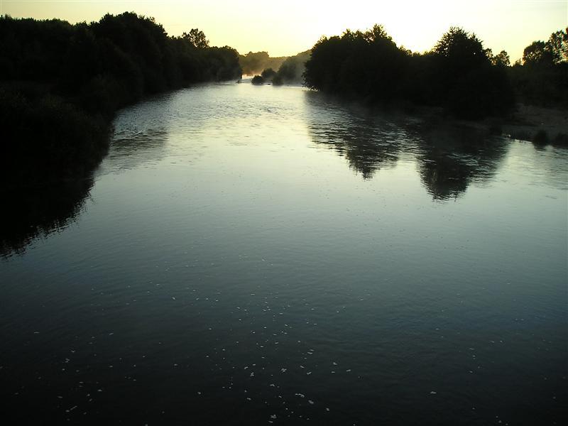 Amanecer rio Tera