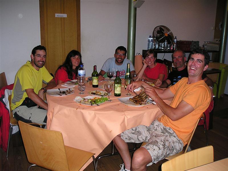 Cena con otros bicigrinos